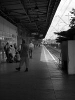 waiting for the train by HeretyczkaA