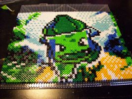 Bulbasaur perler bead by echaltraw