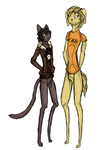 Nico di Angelo and Will Solace furry version by Ravinah