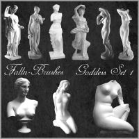 Goddess Statues Brushes Set 1 by Falln-Brushes