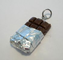 Chocolate Bar Charm by WaywardKrissum