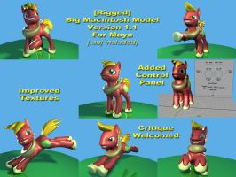 Rigged Big Macintosh Model v1.1 for Maya by Eben-swf