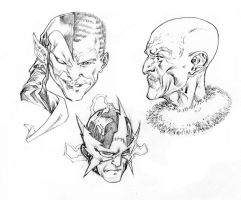 Spider-Man Villains portraits by SpiderGuile