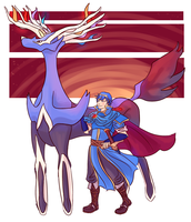 Marth + Xerneas by gradevus