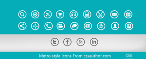 Beautiful Metro style icons PSD for Free Download  by cssauthor