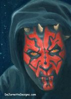 Darth Maul Card Painting by DeJarnette