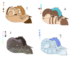 Sphoxes Adopt Batch - SOLD by ShadowInkAdopts