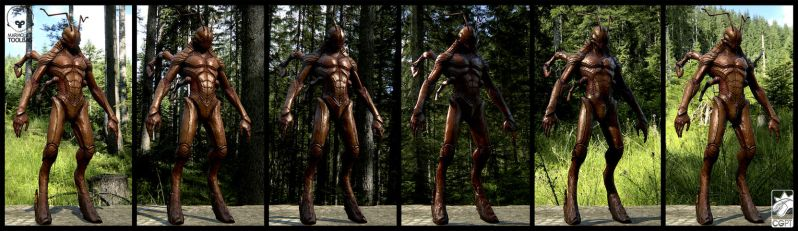 Humanoid bug concept by CGPTTeam