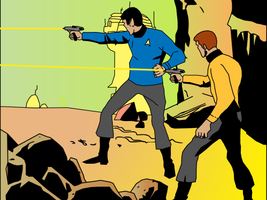 Spock and kirk by shukym