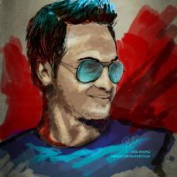 Smoking Shakib by inkrush