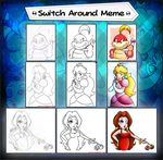 Collab: Switch Around Meme-Mario Ladies by Nintendrawer