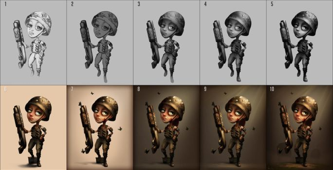 The last Girl standing - Process by Facu-Moreno