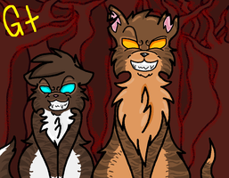 Tigerstar and Hawkfrost by galienyancats