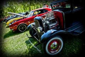 All lined up for the glory of vintage by RockRiderZ