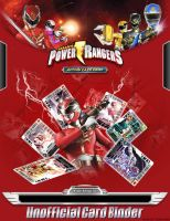 Power Rangers Card Binder Unofficial Cover by egallardo26