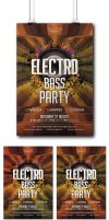 Electro Bass Party Flyer by Mariux10