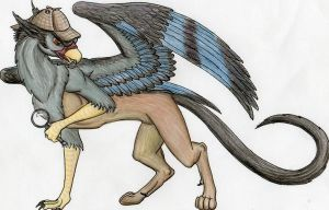 Sherlock Holmes Gryphon Tattoo by SilverGryphon8