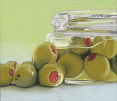 olives in a jar by classina