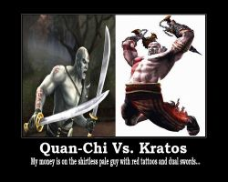 Quan-Chi vs. Kratos by PrideLanternCorps