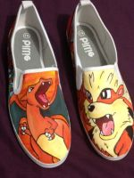 fire pokemon shoes by aalyce