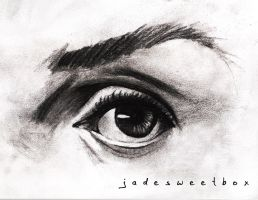 Eye Study Charcoal by jadesweetbox
