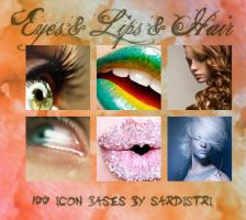 Icon Bases: Eyes, Lips and Hair by Sardistri