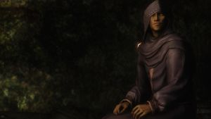 Skyrim: NPC Hooded Elf by haunted-passion
