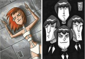 Leeloo and The Fab Four by OtisFrampton