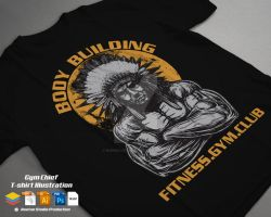 Gym Chief T shirt Illustration Template by r4prolutions