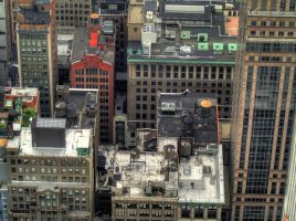 NYC Little Red Building HDR by Soulkreig