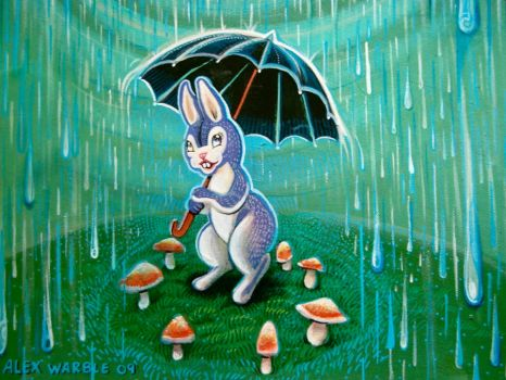 Rainy Day Bunny Mushrooms by hyronomous