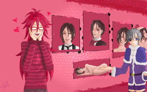 Have a nice x-mas, Grell by PlacebicYue
