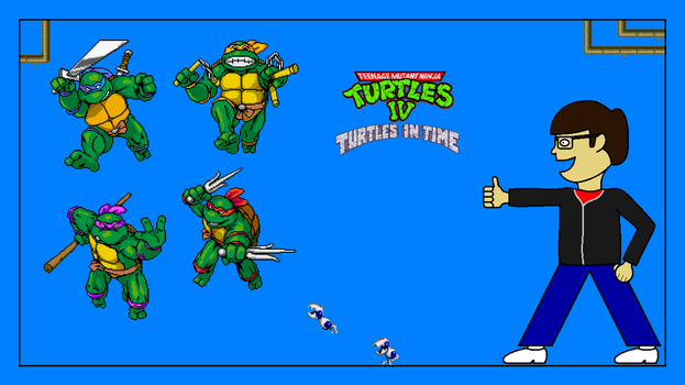 TMNT IV: Turtles in Time Title Screen by FreeNintendo21