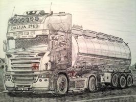 scania truck by RoxyCloud