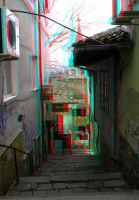 Alley, anaglyph by mrkane27