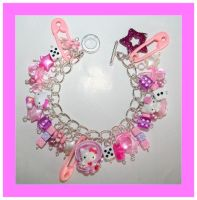 Hello kitty bracelet pink by False-desire