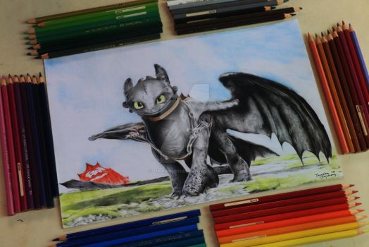 Toothless - How To Train Your Dragon by therdione13