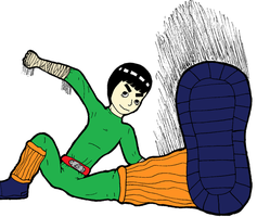 Rock Lee ATTACK by BlackNightingGale