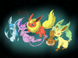 Eeveelutions by Dazed--Flame