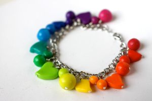 Rainbow Bundle Bracelet [fimo] by PaleMint