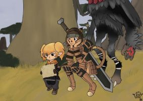 FFXI Commission: Our first Adventure by OhkiKaze