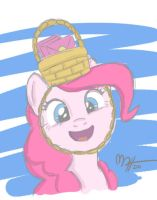 Pinkie Pie with Basket Hat by MateusUK