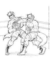 DarkWolf VS Dereck ink by YamiBliss
