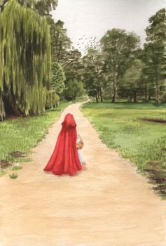 Little red ridinghood by HannaBrunArt