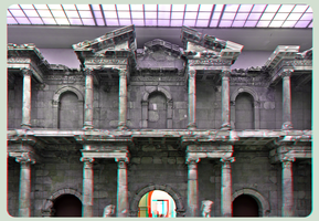 Market Gate of Miletus ::: Anaglyph 3D-DRI by zour