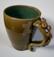 Green Octopus Mug by ChristinaRoth333