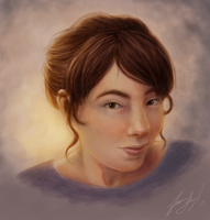 A Self Portrait by aluckymuse