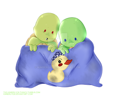 Ducky Blanket and Tots by KimberlyGB