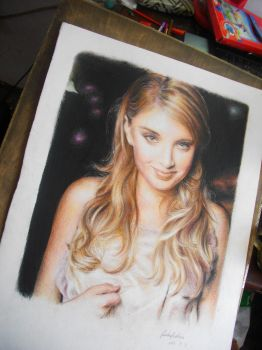 Elizabeth Harnois WIP by fantafiction