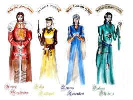 The founders of Hogwarts by BeatrixBonnie